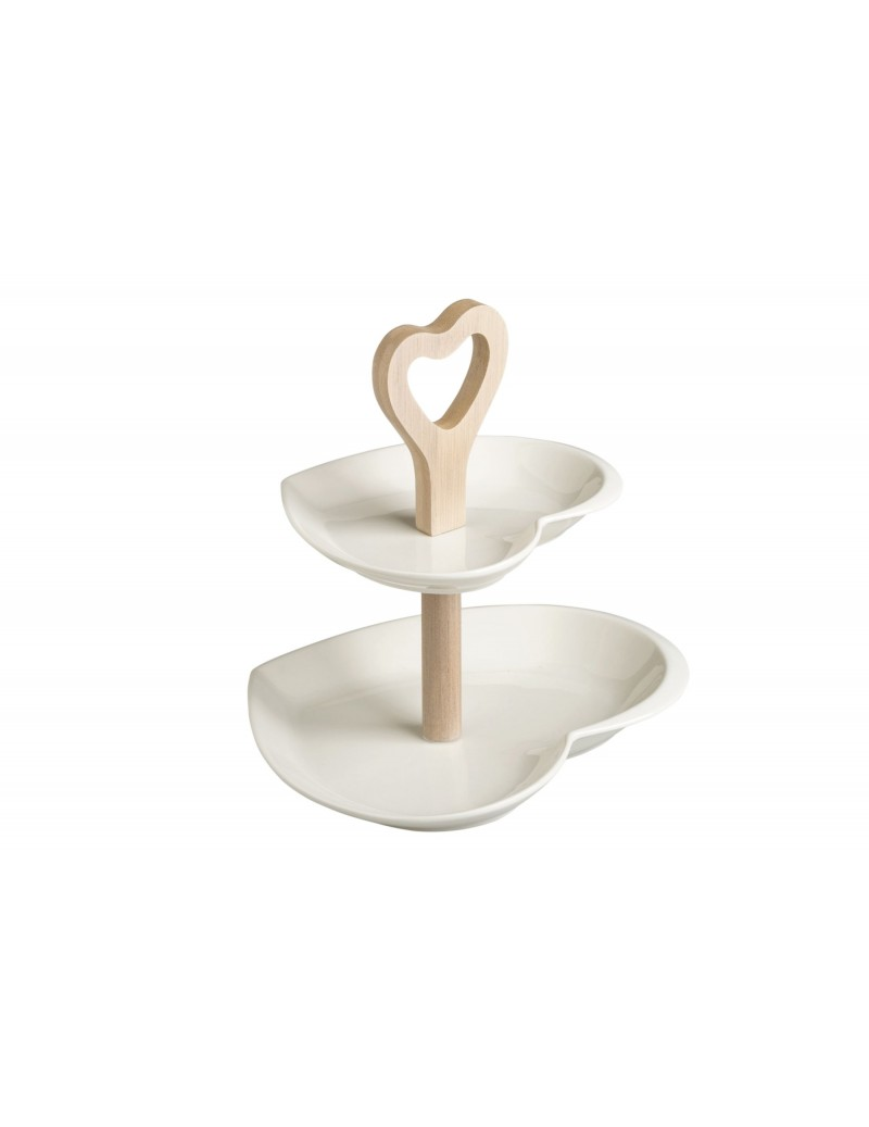 DOUBLE HEART CAKE STAND...