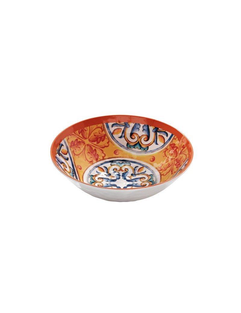 MEDICEA ORANGE MELAMINE BOWL