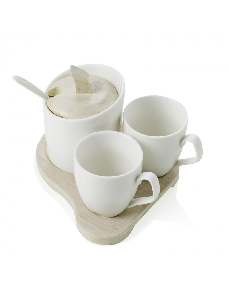 COFFEE SET SQUARE 3 PEZZI...