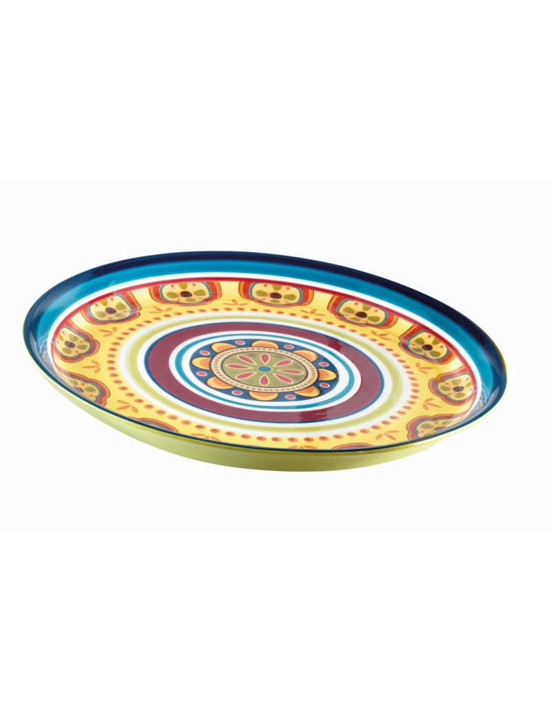 ROUND IRONSTONE MESSICO TRAY