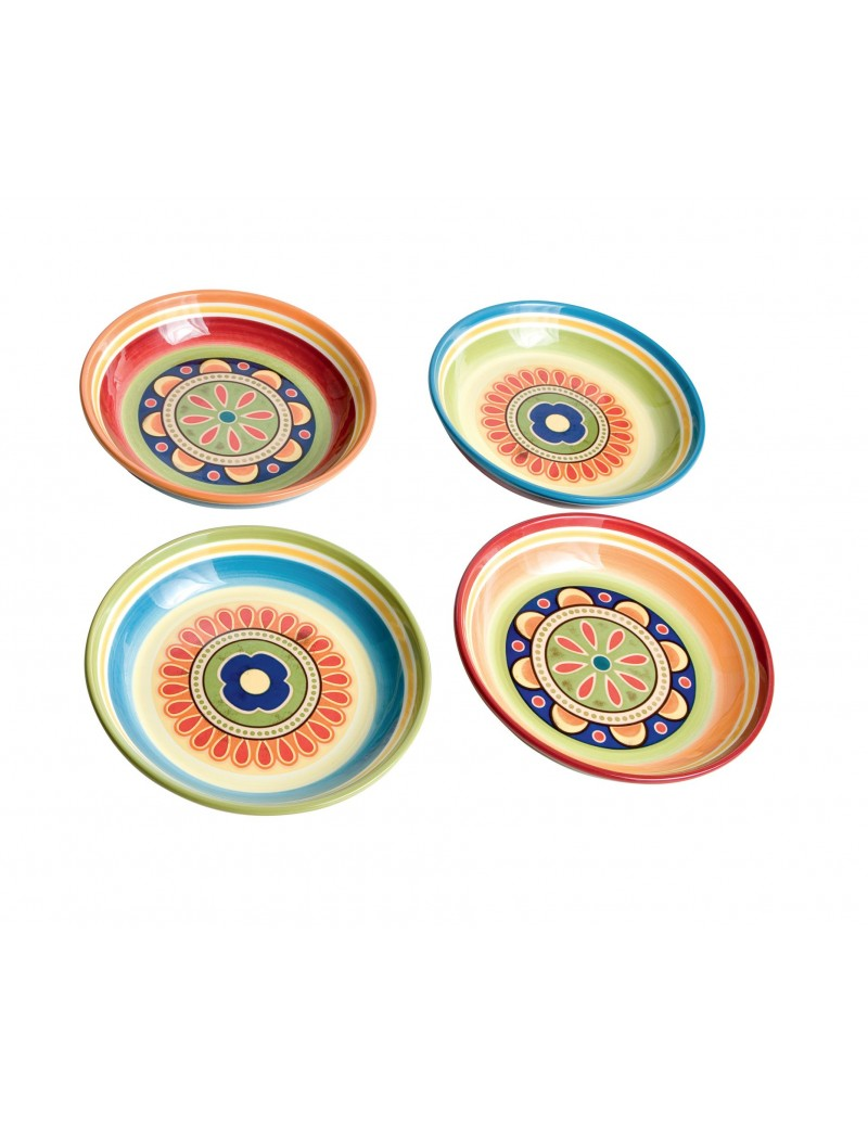 MESSICO 4 PCS SOUP PLATE...