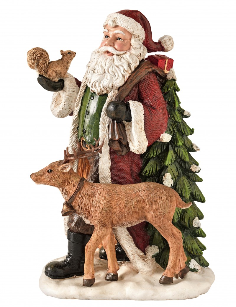 RESIN SANTA CLAUS WITH...