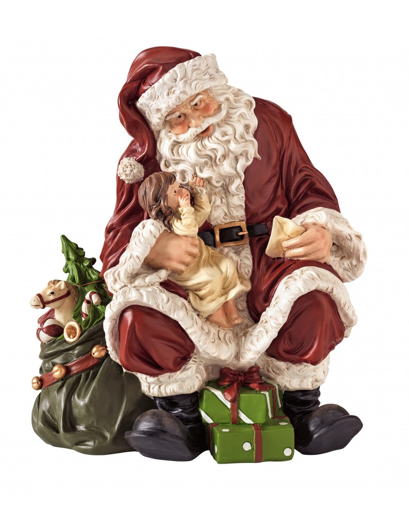 RESIN SANTA CLAUS WITH BABY