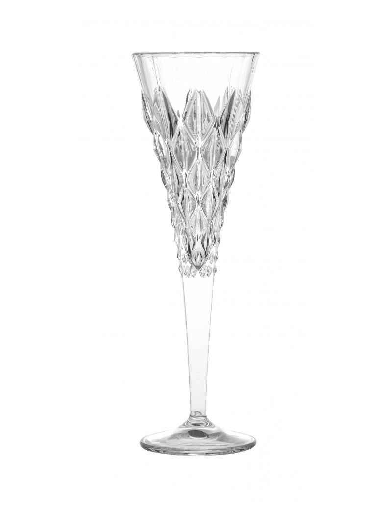 FLUTE STRONG CRYSTAL GLASS