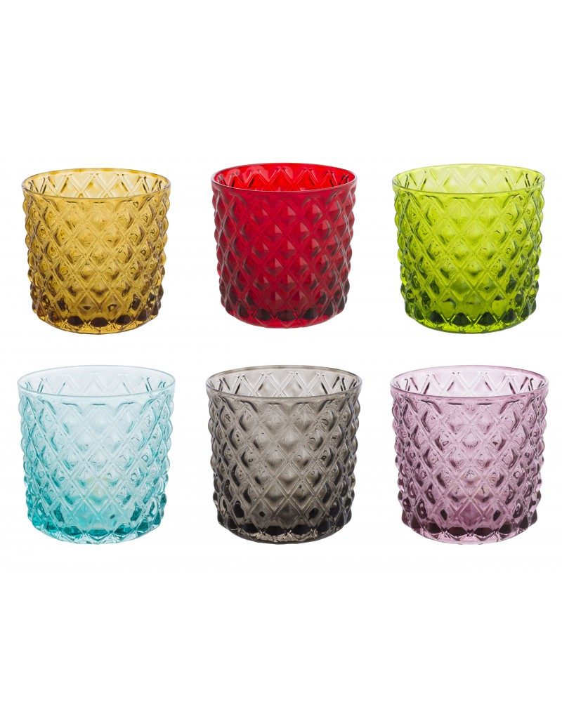 DIAMOND-PATTERN GLASSES...
