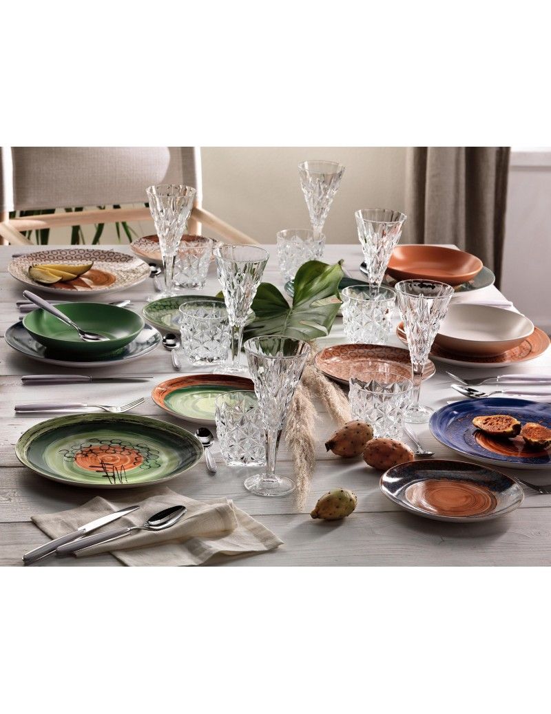 CAOS 18 PC PORCELAIN DINNER...