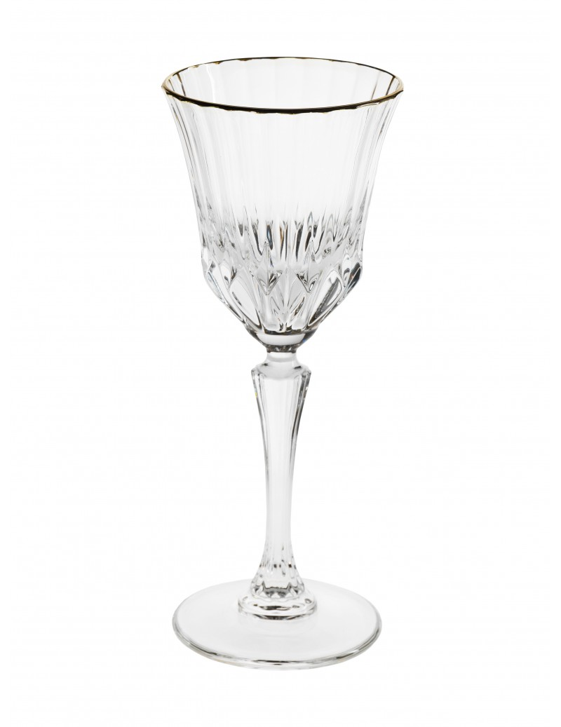 OH MY GOLD CRYSTAL WINE GLASS