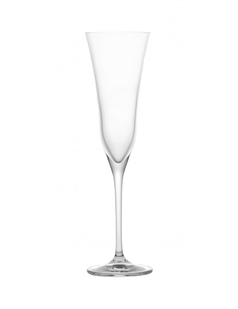CAREZZA CRYSTAL GLASS FLUTE
