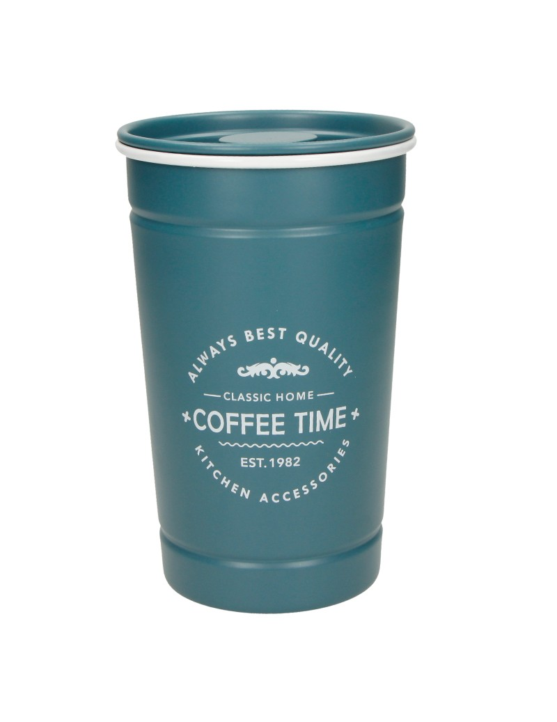 METAL PETROLEUM-BLUE COFFEE...
