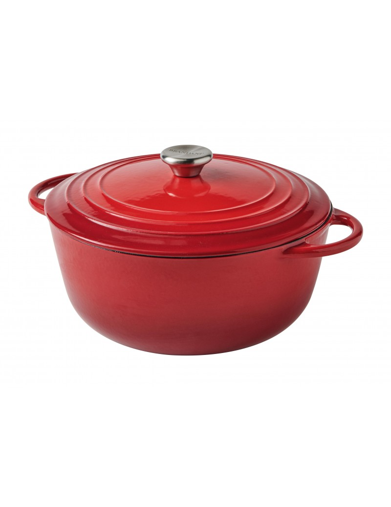 RED ENAMELED CAST IRON...