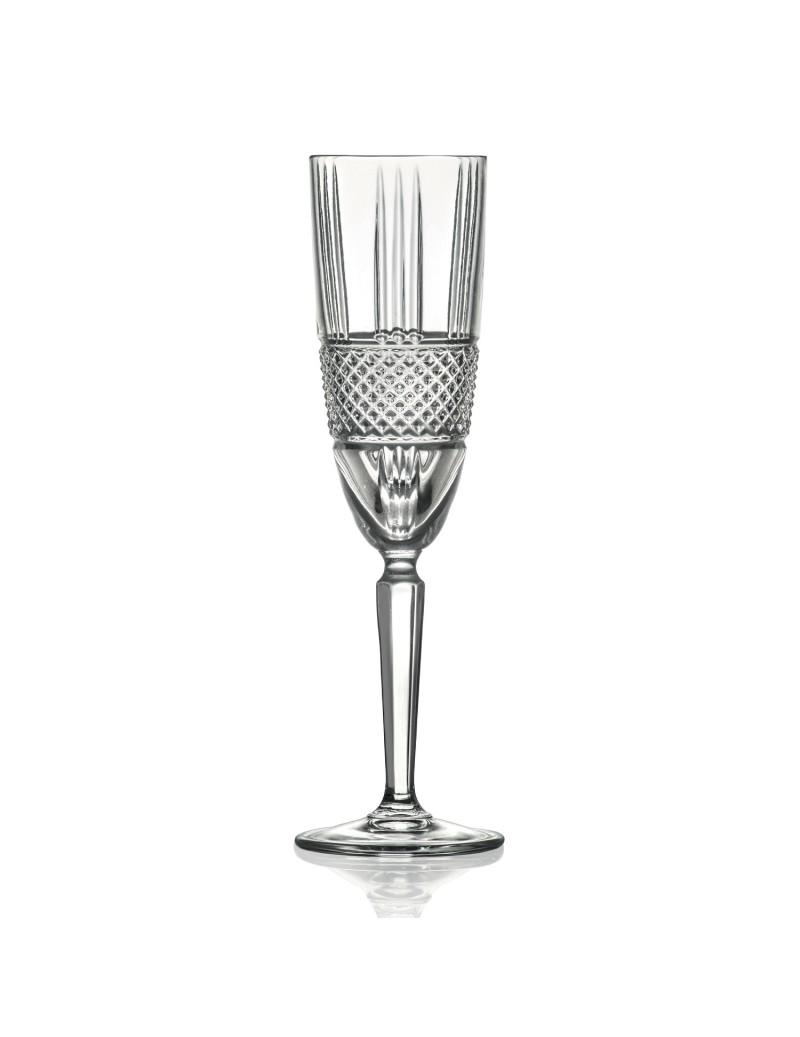 FLUTE DIAMOND CRYSTAL GLASS